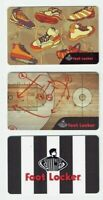 Foot Locker Gift Cards - LOT of 3 Older - Basketball Play / Sneakers - No Value