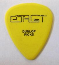 Amir Derakh fom Orgy Guitar Pick Yellow with Black Lettering