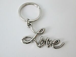 Sex and the City LOVE Key Ring/Chain Chrome  Plated Metal