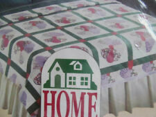 New~Home Designs Printed Blanket~Dresden Plate Quilt Pattern~Full Twin 72x90 New