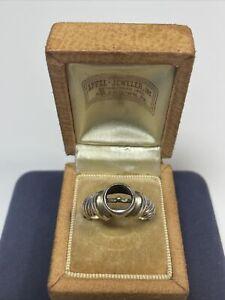 David Yurman Sterling Silver & 14k Pearl Ring Setting