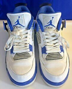 2017 Nike Air Jordan 4 Retro Motorsports Men's US Size 10.5 Blue White 308497