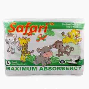 Rearz Safari Windeln mit Plastikfolie für Erwachsene (12 Stück) Gr M