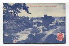 Cottingley, near Bingley - Waterworks Bridge - 1908 used Yorkshire postcard