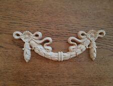 Rose Nœud SWAG meuble fronton en bois appliques sculptures decals Shabby Chic