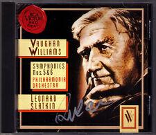 Leonard Slatkin signé Vaughan Williams Symphony No. 5 & 6 RCA CD Philharmonia