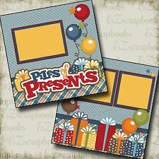 PILES of PRESENTS - 2 Premade Scrapbook Pages - EZ Layout 2196