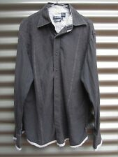 Christopher Wicks Clean Laundry Men's Black Long Sleeve Shirt Label Size Large