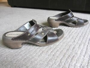 MERRELL Heel Summer Leather Sandals UK 6 merrill merell merrel