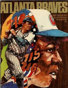 1974 Atlanta Braves Illustrated Yearbook HANK AARON BABE RUTH Free Shipping