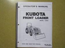 Kubota LA682 682 loader owners & maintenance manual
