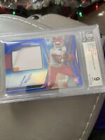 2020 Certified Clyde Edwards-Helaire RC Patch Auto Blue /99 Chiefs BGS 9