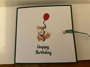 Handmade Surprise Fox pop up card.Can be personalised