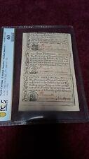 Colonial North Carolina uncut sheet Dec. 1771