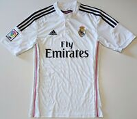 REAL MADRID SPAIN 2014/2015 HOME FOOTBALL SHIRT JERSEY ADIDAS SIZE S ADULT