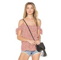 Bailey 44 x Revolve Womens Sz XS Red Floral Montego Bay Cold Shoulder Top EUC