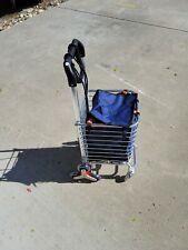 Folding shopping cart with wheels
