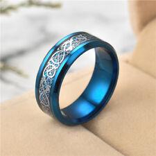 Celtic Dragon Stainless Steel Ring Men's Women Wedding Engagement Jewelry Sz 10