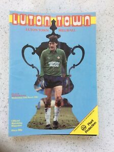 Luton Town v Millwall 13th Mar 1985 FA Cup