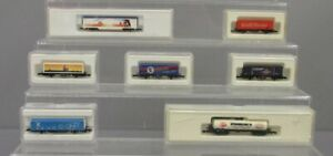 Assorted Marklin Z Scale Freight Cars [7] EX/Box