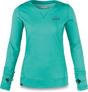 New Dakine Women's Scarlet Crew Mid Weight Base Layer Shirt Top Medium Lagoon