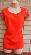 PER UNA MARKS SPENCER BEADED GOLD SEQUIN BAGGY ORANGE BLOUSE TUNIC TOP 16 XL