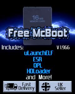 Free MCBoot 1.966 FMCB - Playstation 2 - 16MB Memory Card (ESR, HDL, OPL, MORE)
