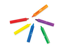 Pack Of 6 Baby Bath Crayons for Fun In Bath - Non Toxic Bath Toys