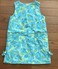 Lilly Pulitzer Girls Shift Sun Dress Oriental Fans Blue Green Size 6X Lilly Lace