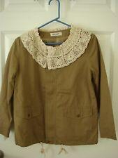 Japan Olive des Olive Lace Beige Brown Coat Jacket