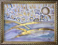 ORIGINAL Malerei A3 PAINTING zeichnung Margarita Bonke landscape Landschaft art