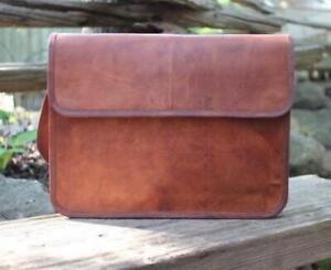 Genuine Leather Handbag Briefcase Laptop Shoulder Bag Men's Women Messenger Bag