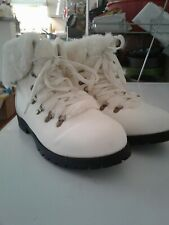 ***Comfortview Arctic White Winter Mid Calf Cute Fur Bootie***