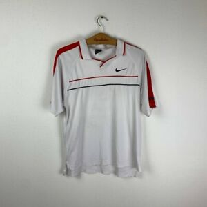 VINTAGE ANDRE AGASSI TENNIS SHIRT MEN'S JERSEY NIKE WHITE SIZE S