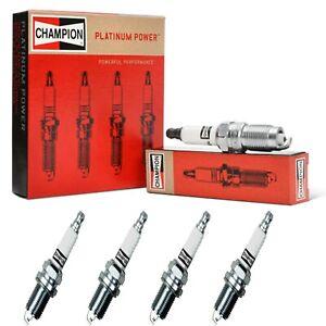 4 Champion Platinum Spark Plugs Set for VOLKSWAGEN BEETLE 2003 L4-2.0L