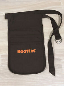 *NEW* Authentic HOOTERS Girl Uniform Halloween Costume Money Ticket POUCH BROWN