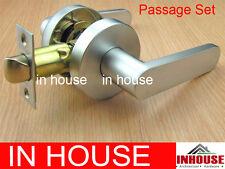Door handles! -Passage set-Satin chrome finished(6515RND-SC)