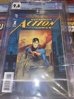 Action Comics The New 52 Futures End #1 DC CGC 9.6 3D Lenticular Cover
