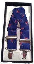 Louisiana Tech Bulldogs Men's Silk Suspenders NWT NCAA College Sports Teams