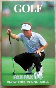 Golf Fax Pax Set of 36 Pro Golfers in Original Packaging, 1986, All Cards Mint