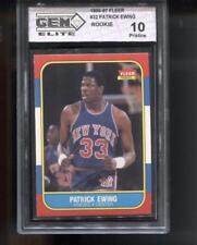 PATRICK EWING RC 1986-87 FLEER #32 HOF ROOKIE GEM ELITE 10 PRISTINE