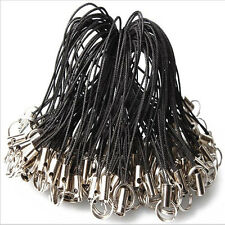100Pcs Cell Phone Lanyard Cords Strap Lariat Mobile double loop Split Ring 1yh