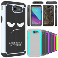 For Samsung Galaxy J3 Luna Pro Case Hard Silicone Hybrid Shockproof Phone Cover