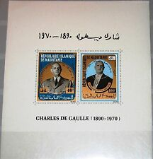 MAURITANIA MAURETANIEN 1971 Block 9 S/S 290a WWII General Charles de Gaulle MNH