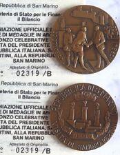 Medaglia ufficiale visita di Stato di Sandro Pertini a San marino 1984