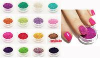 Fashion 50g Acrylic Mini Tiny Ball Beads Caviar Nail Art Tips Decoration New