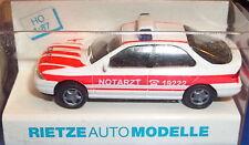 Ford Mondeo Ghia Emergencias Rietze H0 1:87 Emb.orig Å