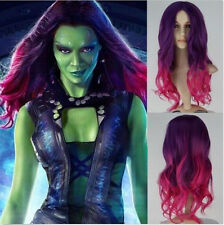 Hot GUARDIANS OF THE GALAXY VOL. 2 Gamora Purple Element Volume Wigs Cosplay Wig
