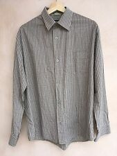 MEXX Shirt Dark Beige With Black Lines Small Check Size M<NH2510