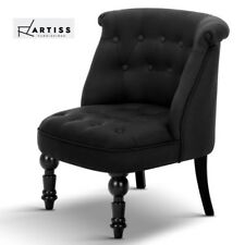 Artiss Lorraine Chair Sofa Lounge Tub Accent Occasional French Provincial Black